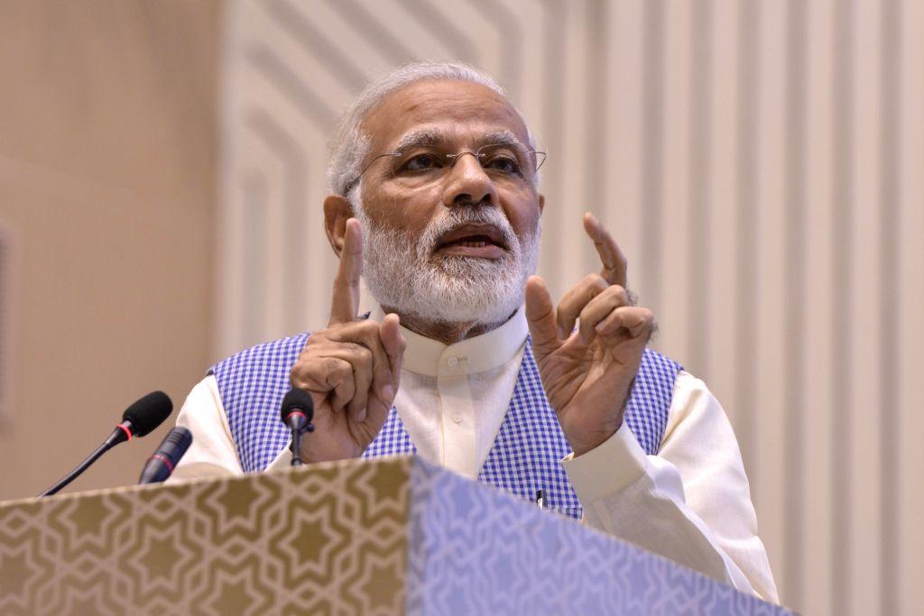 Prime Minister Narendra Modi addresses at the Golden Jubilee Year celebrations of Institute of Company Secretaries of India in New Delhi, on Oct 4, 2017. - Narendra Modi