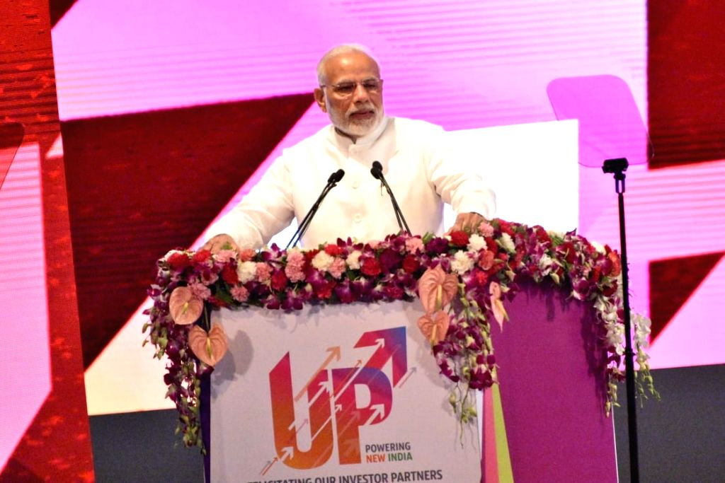 Prime Minister Narendra Modi addresses at the inauguration of various development projects, in Lucknow, on July 29, 2018. - Narendra Modi