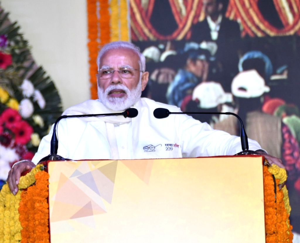 Prime Minister Narendra Modi addresses at the launch of Swachh Shakti-2019 programme in Kurukshetra on Feb 12, 2019. - Narendra Modi