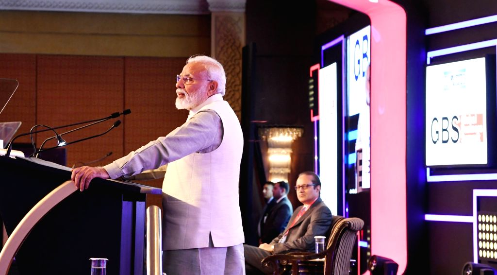 Prime Minister Narendra Modi addresses at the Economic Times Global Business Summit, in New Delhi on Feb 23, 2019. - Narendra Modi
