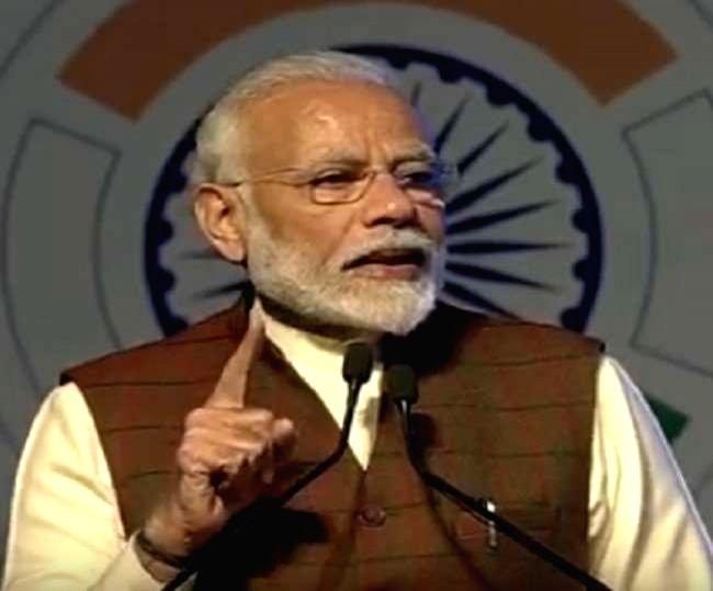 Prime Minister Narendra Modi addresses at the inaugural session of DefExpo 2020 in Lucknow on Feb 5, 2020. - Narendra Modi