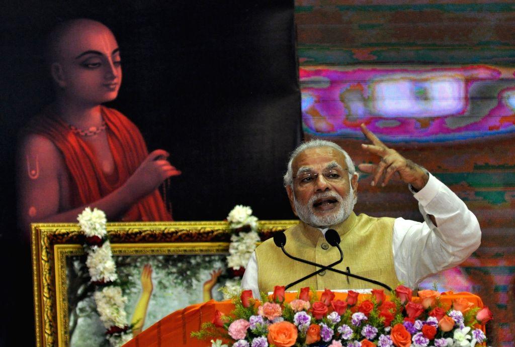 Modi during centenary celebrations of Gaudiya Math and Mission