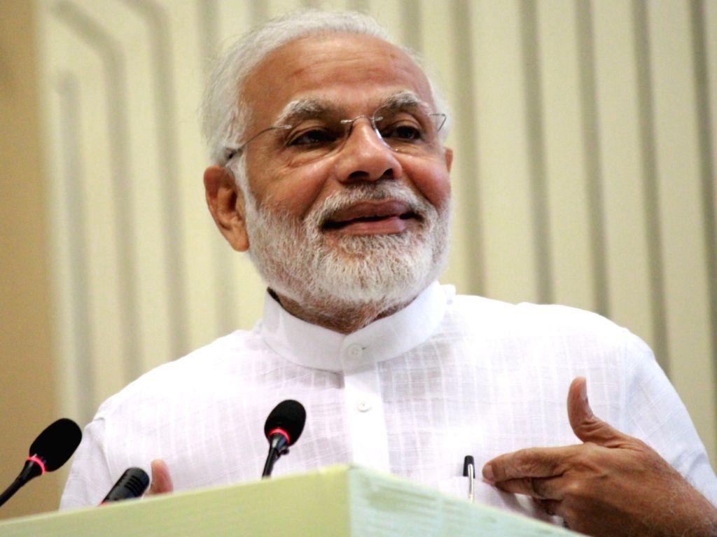 "Prime Minister Narendra Modi addresses during ""The New India Conclave"" in New Delhi on July 16, 2018. - Narendra Modi"