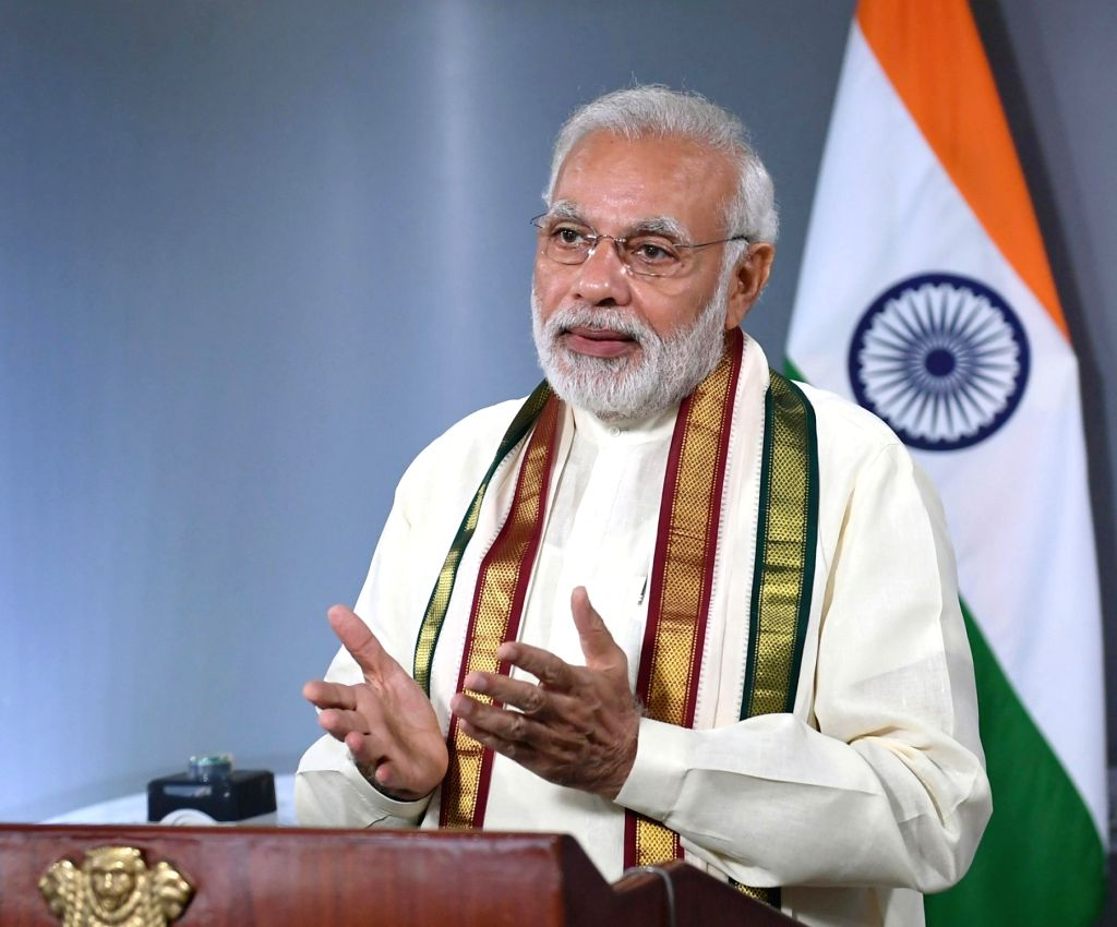 Prime Minister Narendra Modi addresses the programme, through video bridge marking the expansion of Emergency Ambulance Services across the entire island of Sri Lanka, in New Delhi on July ... - Narendra Modi