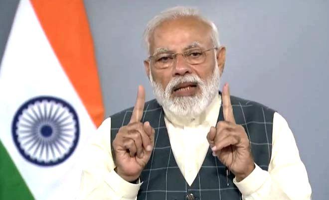 "Prime Minister Narendra Modi addresses the beneficiaries of Pradhan Mantri Bhartiya Janaushadhi Pariyojana (PMBJP) on ""Jan Aushadhi Diwas"", in New Delhi, on March 7, 2019. - Narendra Modi"