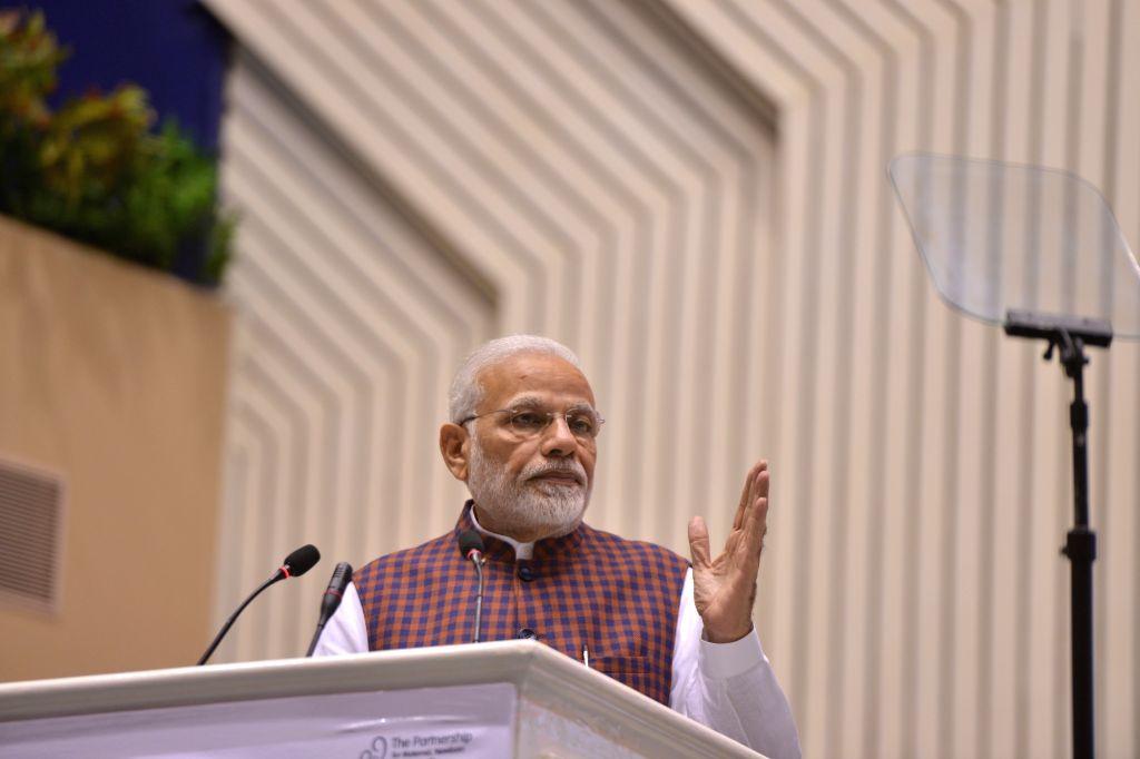 Prime Minister Narendra Modi addressing at the inauguration of the Partners' Forum-2018 in New Delhi on Dec. 12, 2018. - Narendra Modi