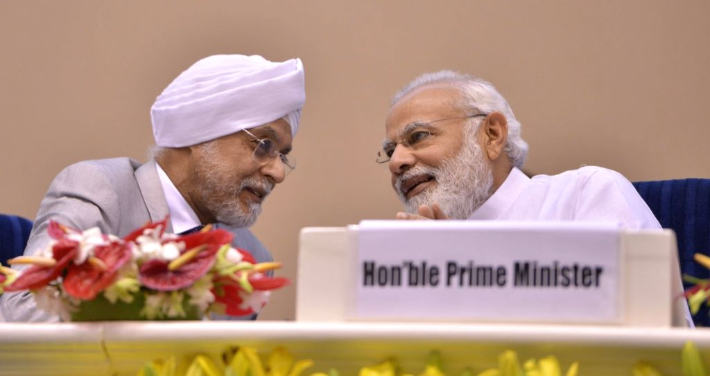 Prime Minister Narendra Modi and Chief Justice of India, Justice JS Khehar during the inauguration of Integrated Case Management Information System in New Delhi on May 10, 2017. - Narendra Modi