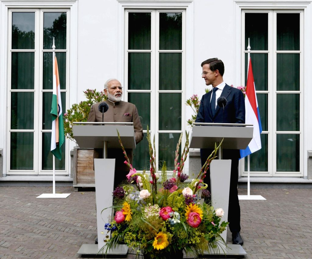 Prime Minister Narendra Modi and Dutch Prime Minister Mark Rutte during a Joint Press Statement in Amsterdam, Netherlands on June 27, 2017. - Narendra Modi