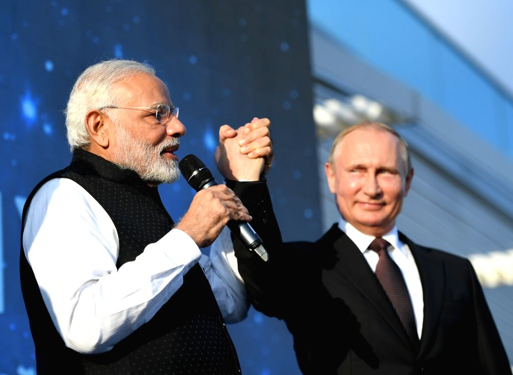 Prime Minister Narendra Modi and Russian President Vladimir Putin interact with exceptionally talented young people from all regions of Russia, at a special monthly camp, during their visit to ... - Narendra Modi