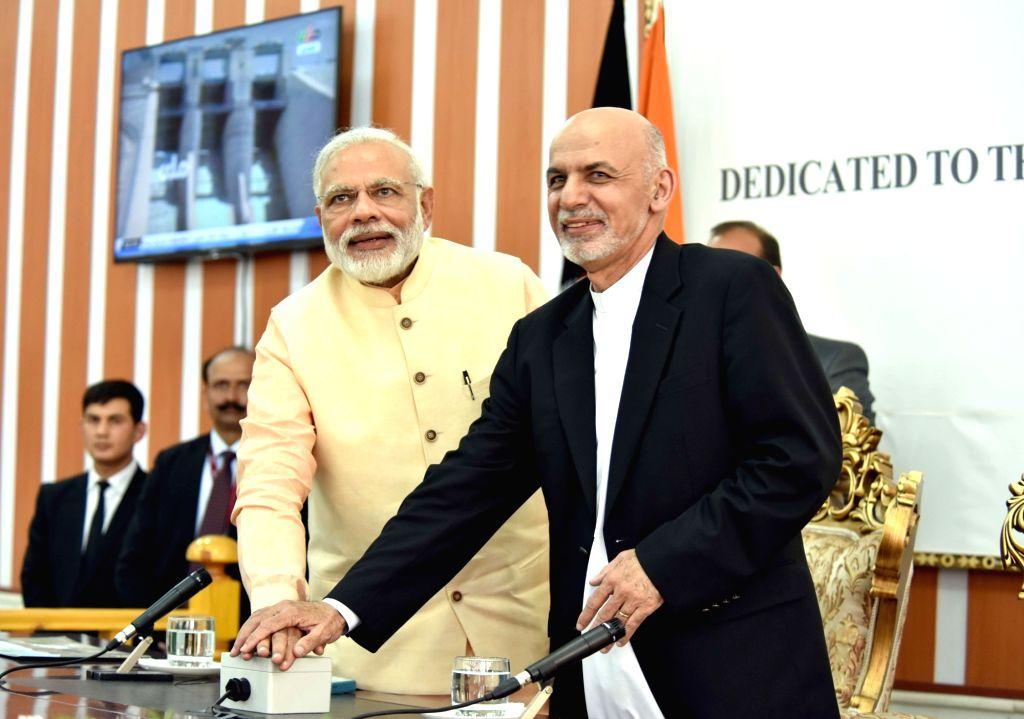 Prime Minister Narendra Modi and the President of the Islamic Republic of Afghanistan Mohammad Ashraf Ghani jointly inaugurate the Afghan-India Friendship Dam (Salma Dam), in Herat, ... - Narendra Modi