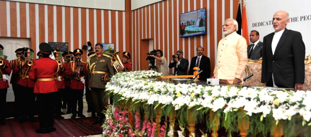 Prime Minister Narendra Modi and the President of the Islamic Republic of Afghanistan Mohammad Ashraf Ghani, at Ghazi Amanullah Khan Hall for the joint inauguration of Afghan-India Friendship ... - Narendra Modi