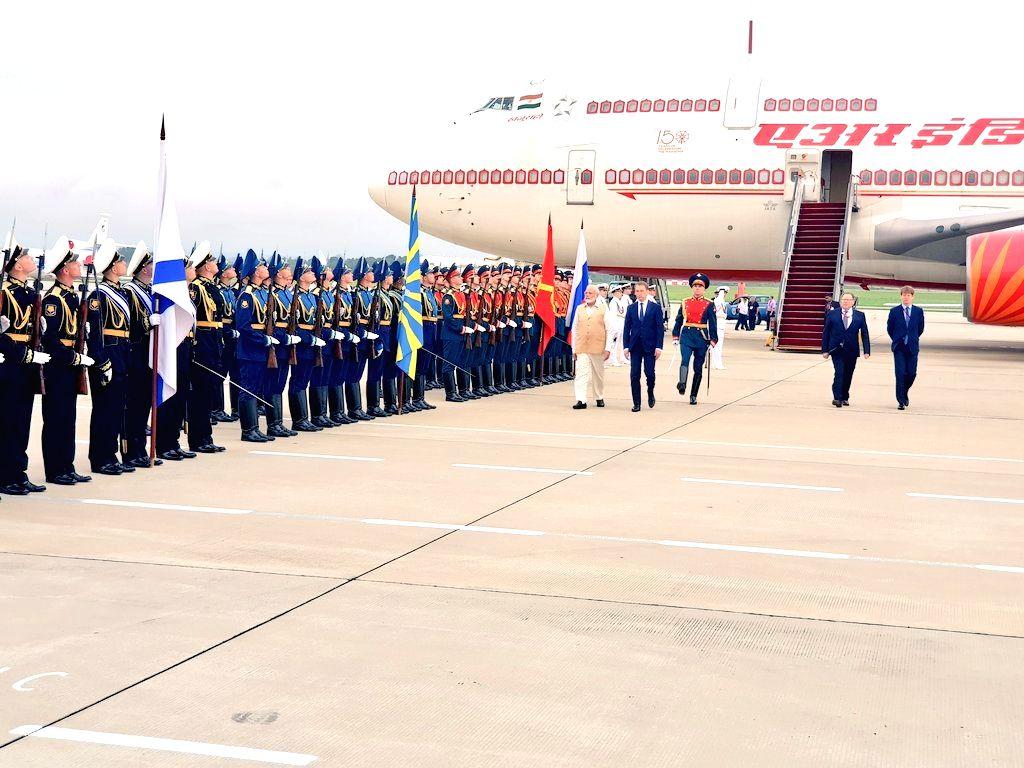 Prime Minister Narendra Modi arrives at Vladivostok airport in Russia on Sep 4, 2019. - Narendra Modi