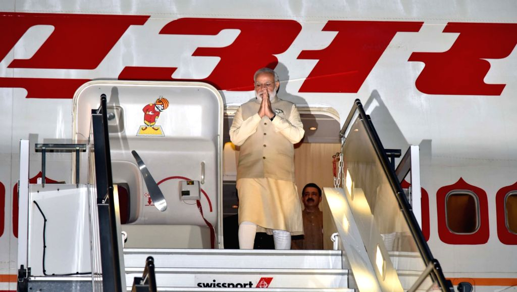 Prime Minister Narendra Modi arrives at Geneva International Airport, Switzerland on June 06, 2016. - Narendra Modi