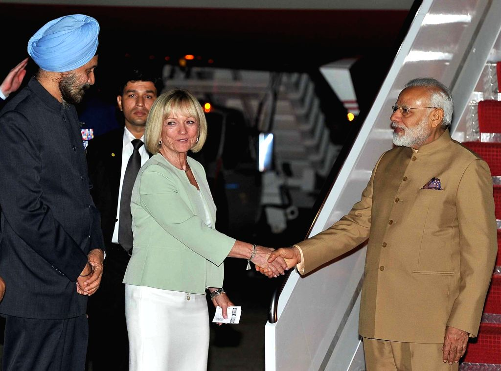 Prime Minister Narendra Modi arrives at Joint Base Andrews, Washington DC, USA on June 24, 2017. - Narendra Modi