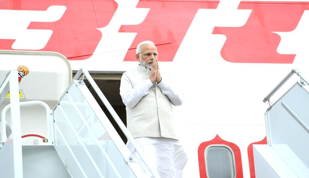 Prime Minister Narendra Modi arrives for an informal summit with Russian President Vladimir Putin in Sochi, Russia on May 21, 2018. - Narendra Modi