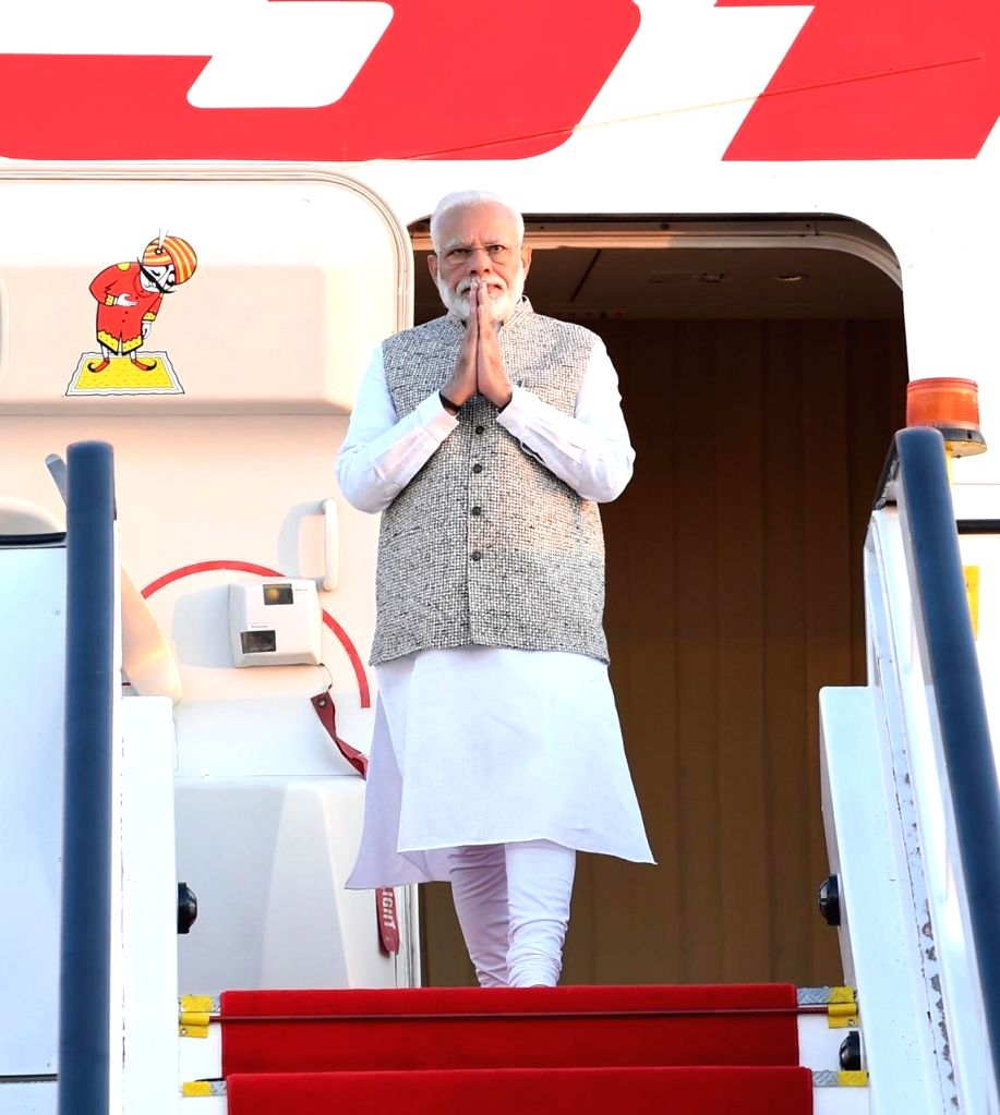 Prime Minister Narendra Modi arrives in Brasilia, Brazil to participate in the 11th BRICS Summit, on Nov 13, 2019. - Narendra Modi