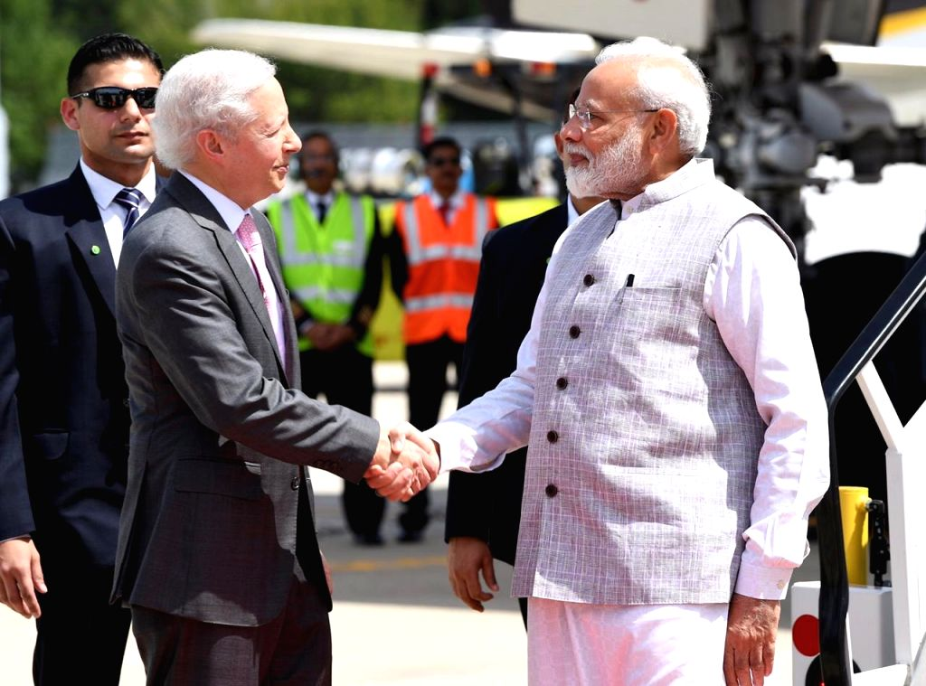 Prime Minister Narendra Modi arrives in Houston, US on Sep 22, 2019. - Narendra Modi