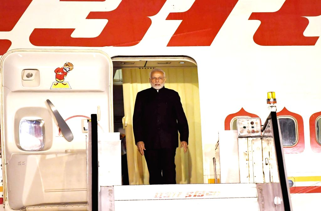 Prime Minister Narendra Modi arrives in New Delhi after attending the Shanghai Cooperation Organisation (SCO) Summit at Qingdao in China, on June 10, 2018. - Narendra Modi