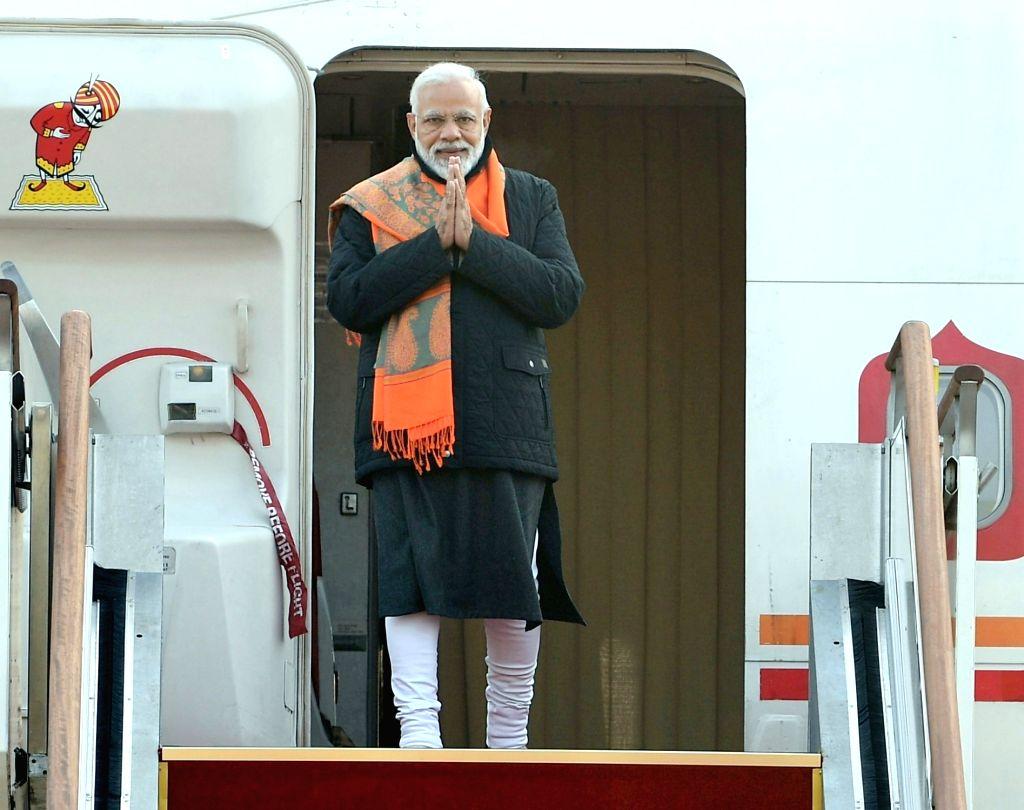 Prime Minister Narendra Modi arrives in Seoul, South Korea, on Feb 21, 2019. - Narendra Modi