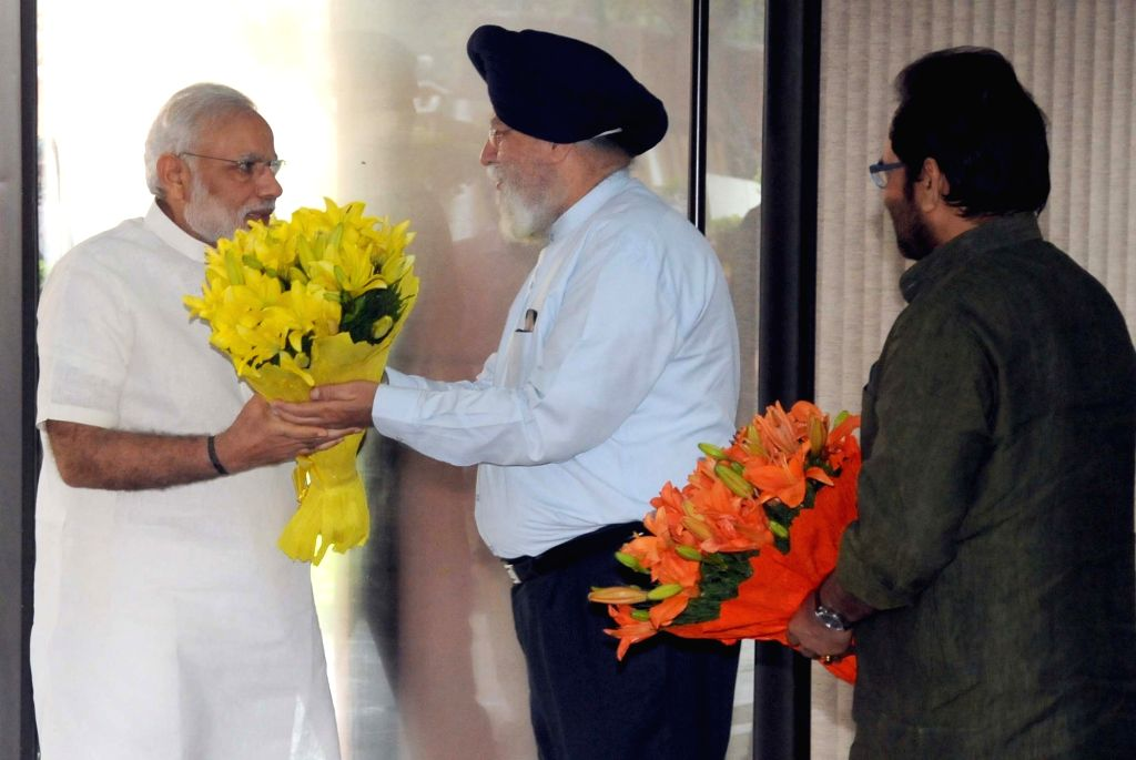 Prime Minister Narendra Modi arrives to attend the All Party meeting in New Delhi on July 17, 2016. Also seen Union Minister of State (Independent Charge) for Minority Affairs Mukhtar ... - Narendra Modi