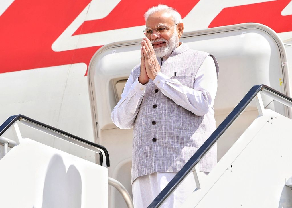 Prime Minister Narendra Modi arriving at Houston airport. - Narendra Modi