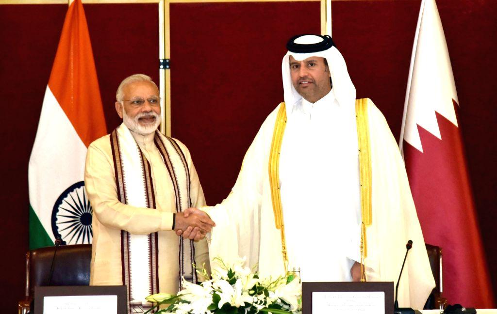 Prime Minister Narendra Modi at a Round Table meeting, at Doha, Qatar on June 5, 2016. - Narendra Modi