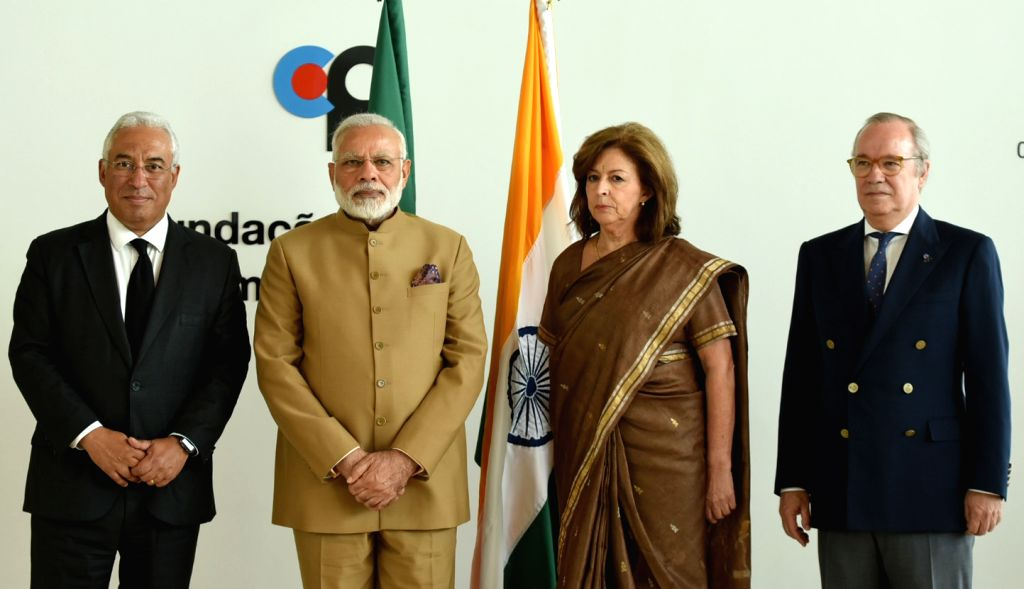 Prime Minister Narendra Modi at the Champalimaud Foundation designed by noted Indian architect Charles Correa, in Lisbon, Portugal on June 24, 2017. Also seen Portugal Prime Minister Antonio ... - Narendra Modi