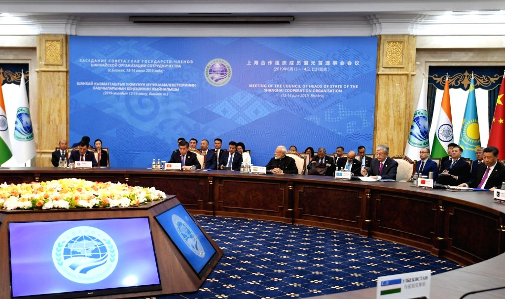 Prime Minister Narendra Modi at the delegation level meeting of the 2019 Shanghai Cooperation Organization (SCO) Summit in Bishkek, Kyrgyzstan on June 14, 2019. - Narendra Modi