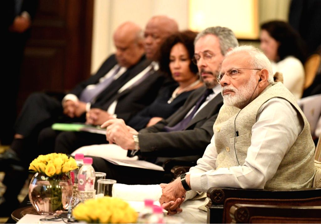 """Prime Minister Narendra Modi at the """"First IBSA Gandhi Mandela Memorial Freedom Lecture"""" organised by the Indian Council of World Affairs (ICWA) in New Delhi, on Jan 25, 2019. - Narendra Modi"""