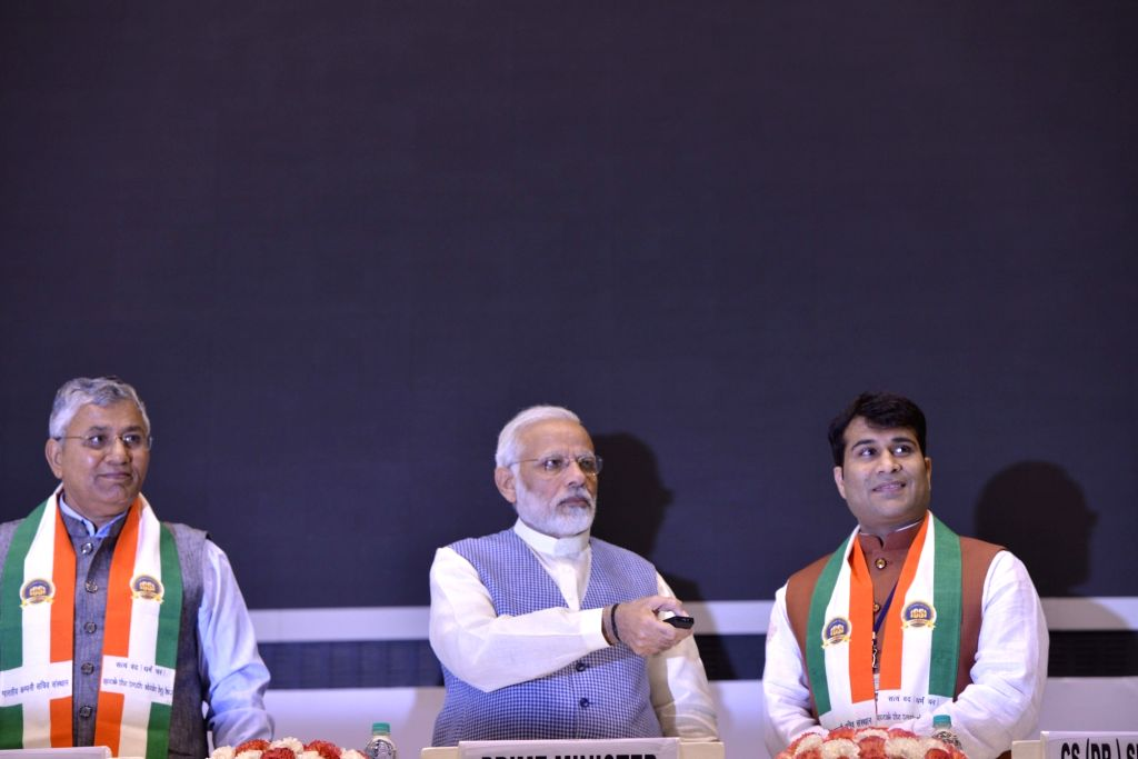 Prime Minister Narendra Modi at the Golden Jubilee Year celebrations of Institute of Company Secretaries of India in New Delhi, on Oct 4, 2017. - Narendra Modi