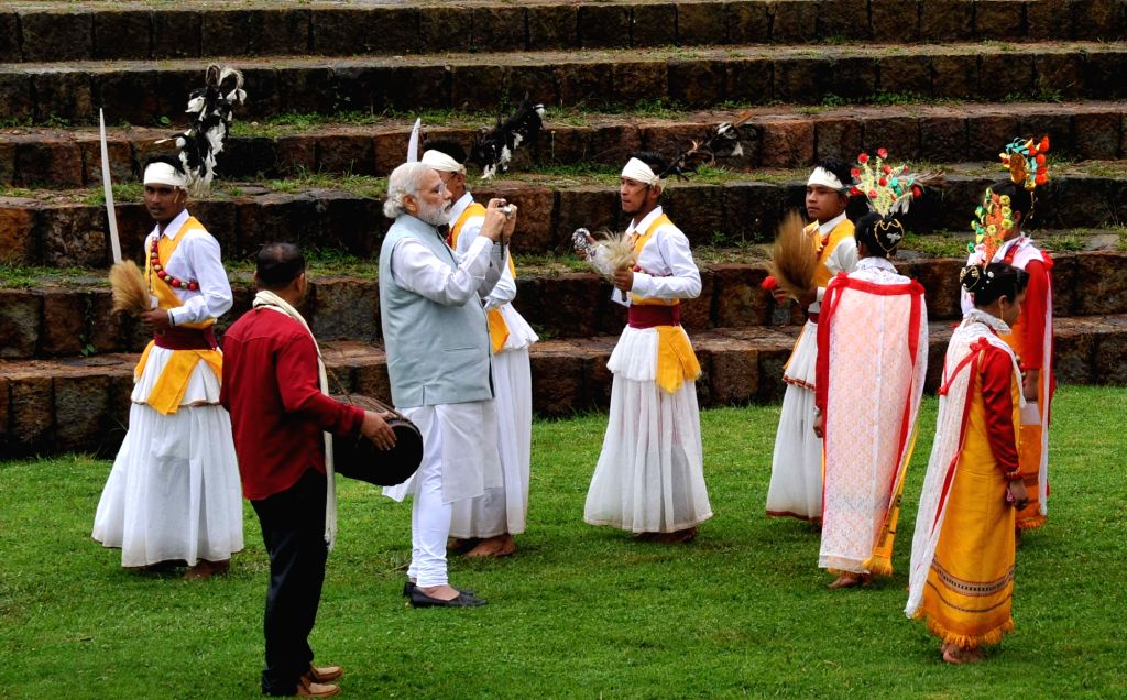 Prime Minister Narendra Modi at the Heritage Village, in Meghalaya on May 28, 2016. - Narendra Modi