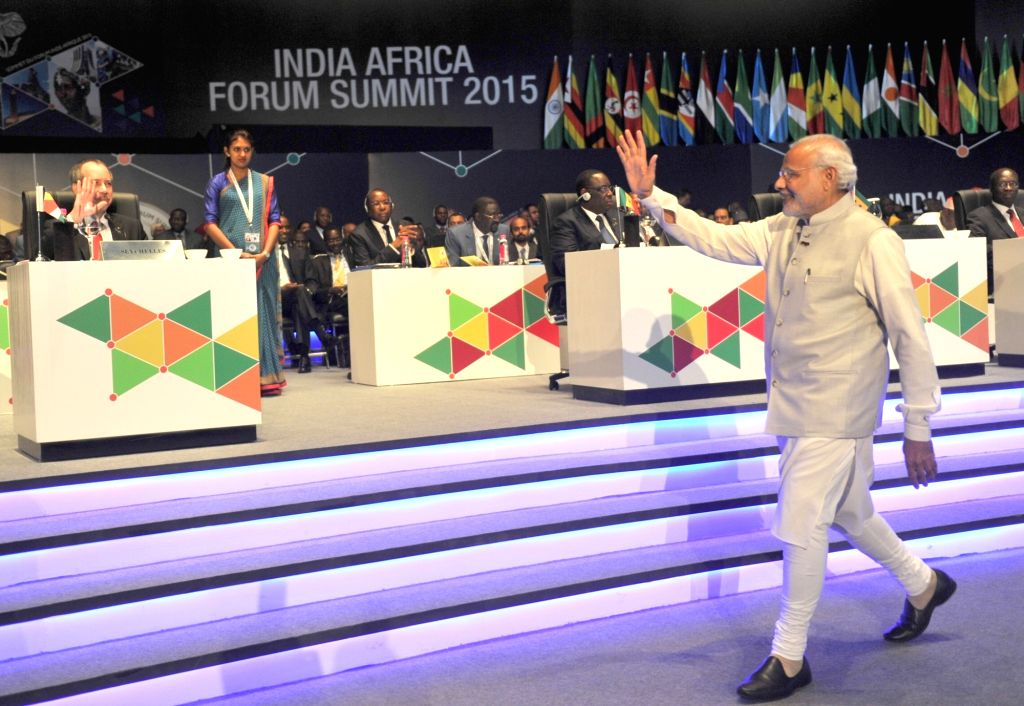 Prime Minister Narendra Modi at the inaugural ceremony of the 3rd India Africa Forum Summit 2015, in New Delhi on Oct 29, 2015. - Narendra Modi