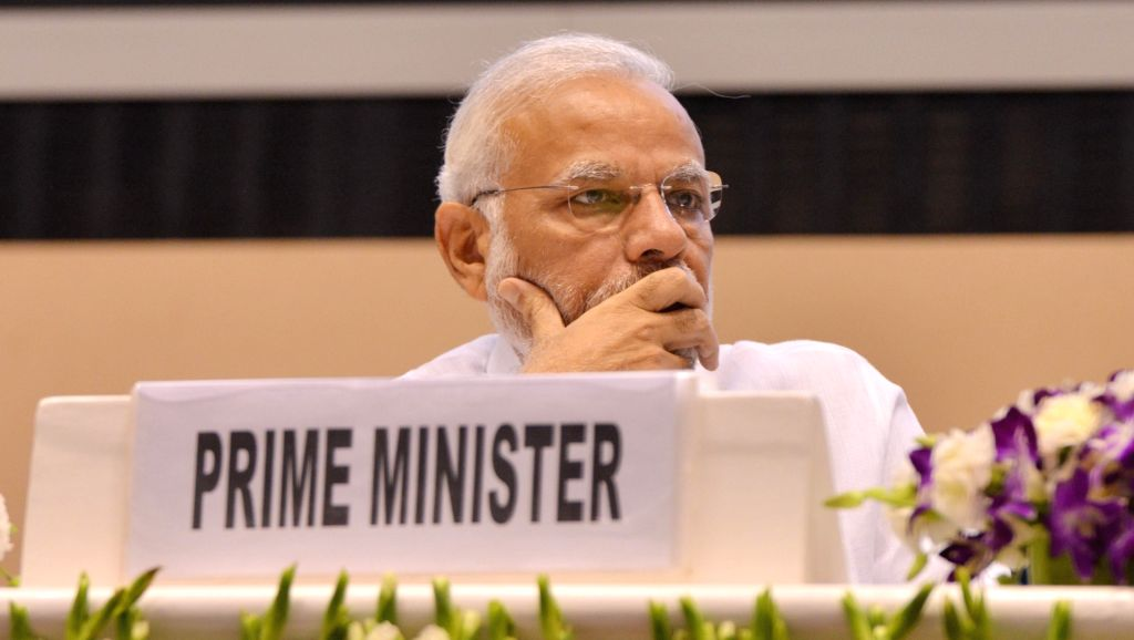 "Prime Minister Narendra Modi at the inaugural programme of the ""World Biofuel Day 2018"", in New Delhi, on Aug 10, 2018. - Narendra Modi"