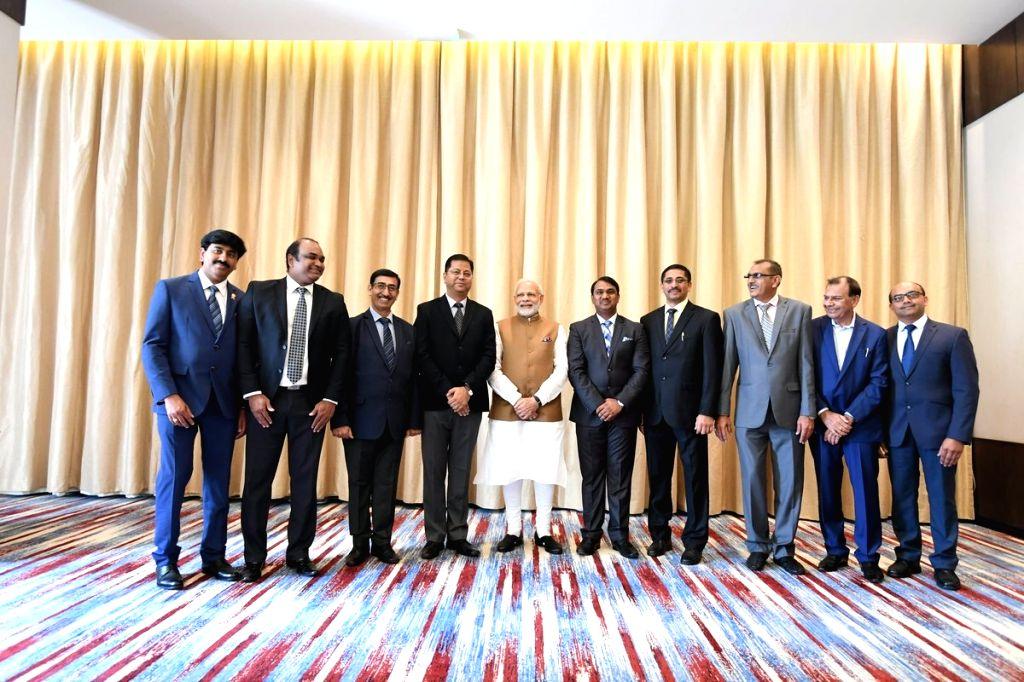 Prime Minister Narendra Modi at the India-Rwanda Business Forum, in Rwanda's Kigali on July 23, 2018. - Narendra Modi
