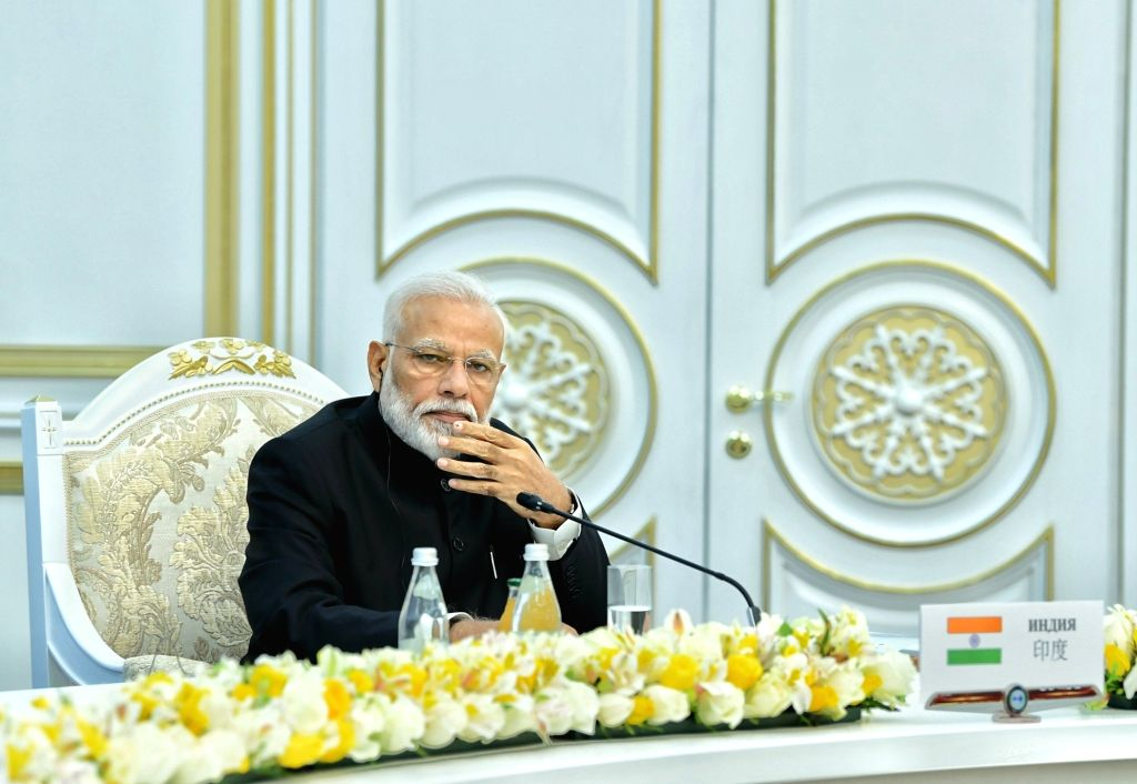 Prime Minister Narendra Modi at the SCO Council of Heads of State Meeting in Bishkek, Kyrgyzstan on June 14, 2019. - Narendra Modi