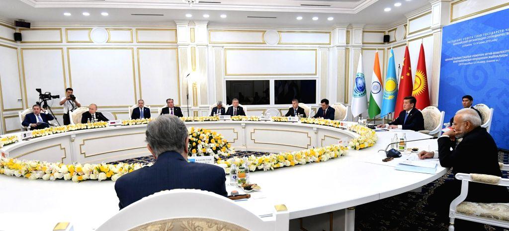 Prime Minister Narendra Modi attending the Restricted Session of the Shanghai Cooperation Organization (SCO) Summit in Bishkek, Kyrgyzstan on June 14, 2019. - Narendra Modi