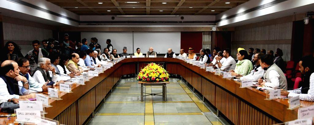 Prime Minister Narendra Modi attends the All Parties ers Meet, in New Delhi on Nov. 17, 2019. - Narendra Modi