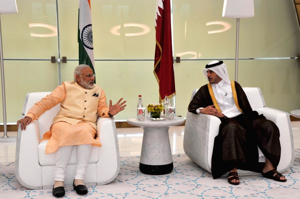 Prime Minister Narendra Modi being received on his arrival, at Hamad International Airport, in Doha, Qatar on June 4, 2016. - Narendra Modi