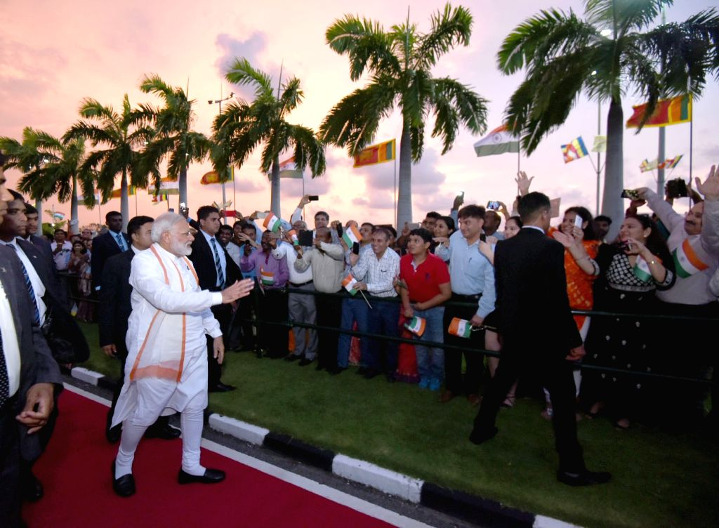 Prime Minister Narendra Modi being seen off on his departure from Colombo, Sri Lanka on May 12, 2017. - Narendra Modi