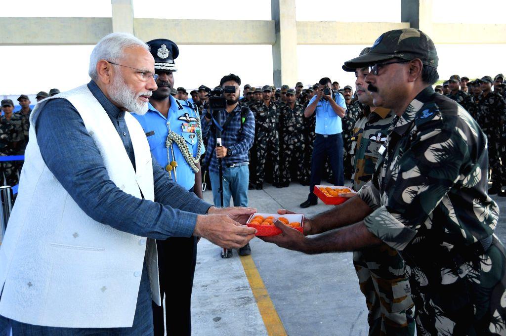 Prime Minister Narendra Modi celebrates Diwali with the soldiers, in Pathankot, Punjab on Oct 27, 2019. - Narendra Modi