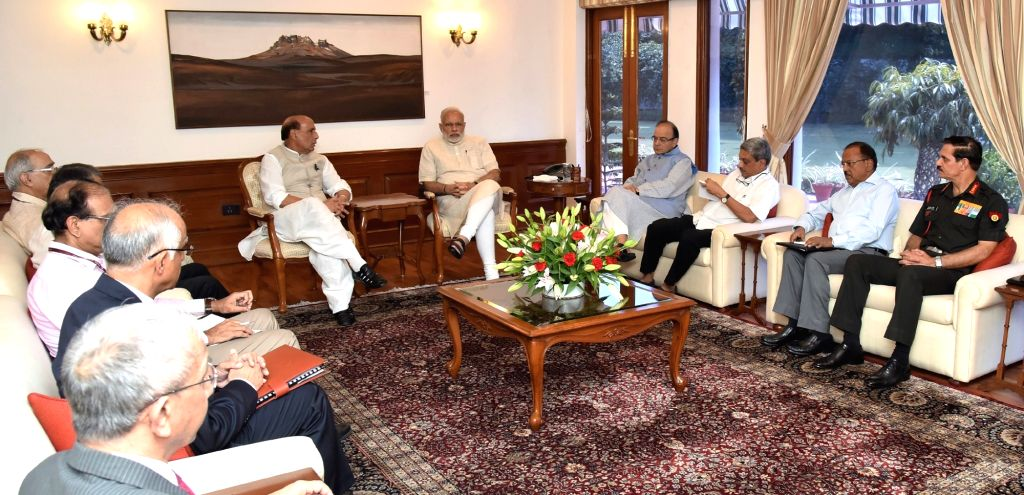 Prime Minister Narendra Modi chairing the High Level meeting in the wake of Uri terror attack, in New Delhi on September 19, 2016. - Narendra Modi