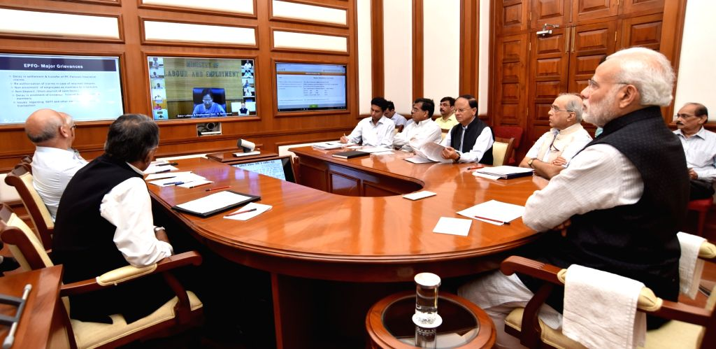 Prime Minister Narendra Modi chairs sixteenth interaction through PRAGATI - the ICT-based, multi-modal platform for Pro-Active Governance and Timely Implementation in New Delhi on Oct 26, ... - Narendra Modi