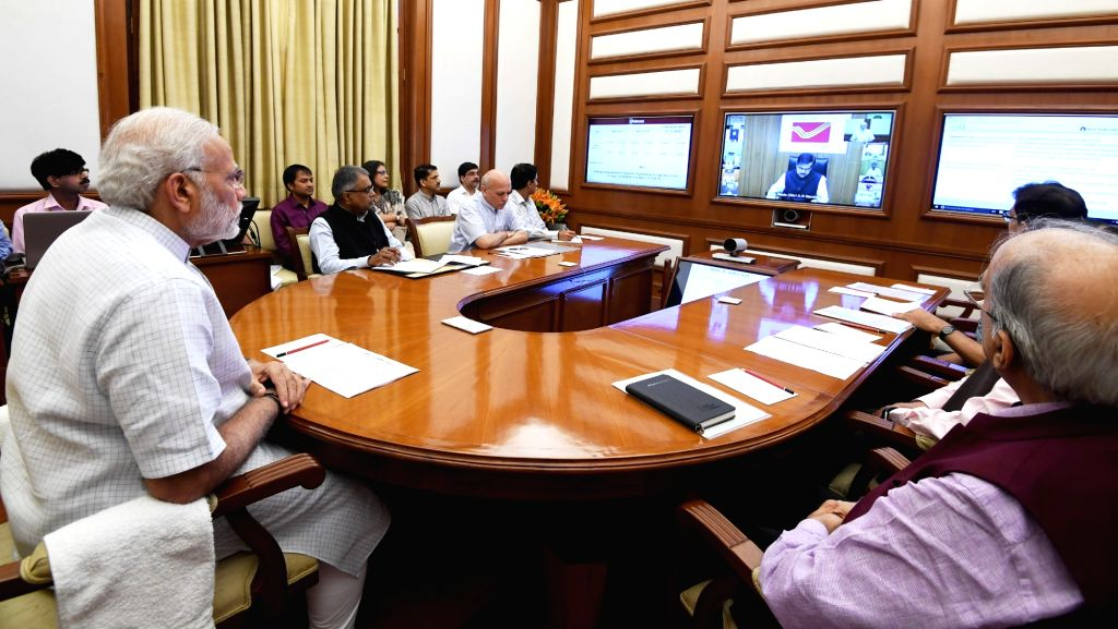Prime Minister Narendra Modi chairs twenty-sixth interaction through PRAGATI - the ICT-based, multi-modal platform for Pro-Active Governance and Timely Implementation in New Delhi on May ... - Narendra Modi