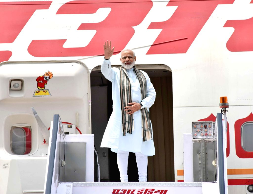 Prime Minister Narendra Modi departs for four nation visit to Germany, Spain, Russia and France from New Delhi on May 29, 2017. - Narendra Modi