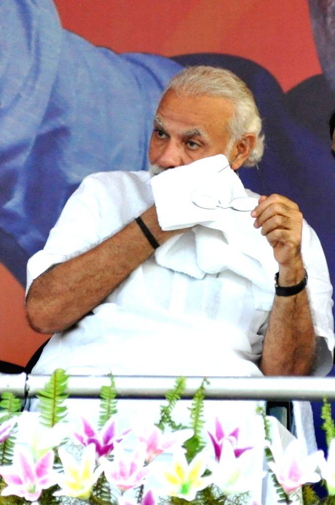 Prime Minister Narendra Modi during a BJP rally in Kolkata, on April 17, 2016. - Narendra Modi