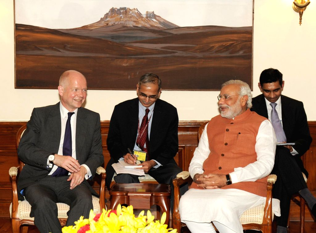 Prime Minister Narendra Modi during a meeting with UK Foreign Secretary William Hague in New Delhi on July 8, 2014. - Narendra Modi
