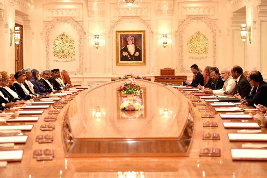 Prime Minister Narendra Modi during a meeting with Deputy Prime Minister of Oman, Fahd bin Mahmood Al Said in Muscat, Oman on Feb 12, 2018. - Narendra Modi