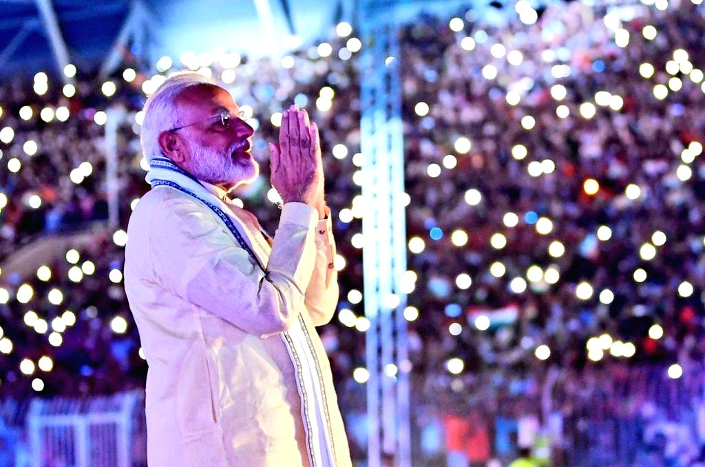 Prime Minister Narendra Modi during a programme organised by the Indian community, in Manama, Bahrain on Aug 24, 2019. - Narendra Modi