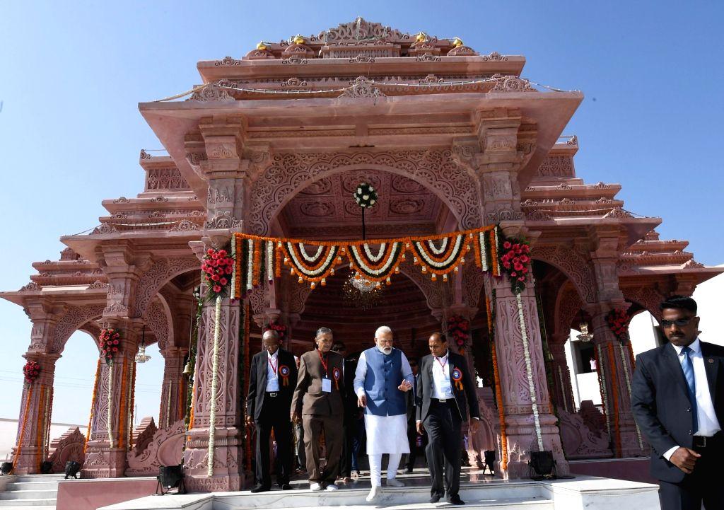 Prime Minister Narendra Modi during his visit at Annapurna Dham Trust, in Adalaj, Gujarat, on March 5, 2019. - Narendra Modi
