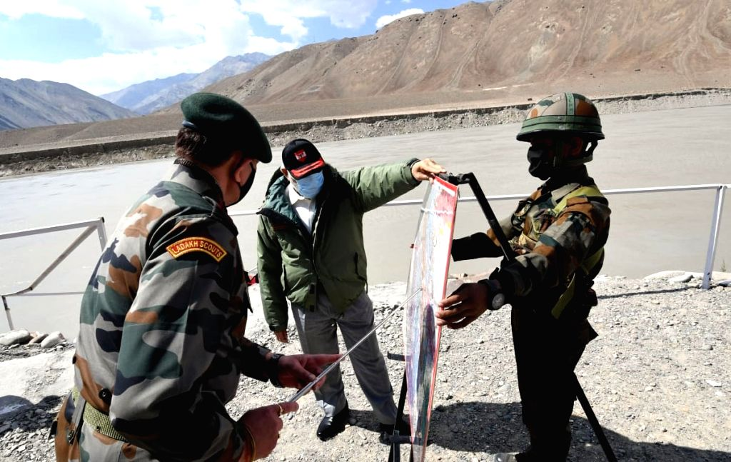 Prime Minister Narendra Modi during his visit to Ladakh to review the ground security situation, amid ongoing tension at borders with China in Eastern Ladakh; on July 3, 2020. The Prime Minister ... - Narendra Modi